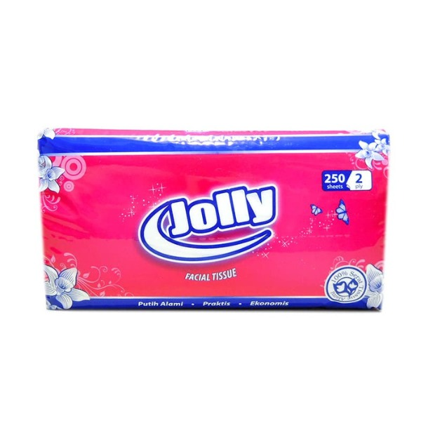 Jolly Facial tissue, 2 Ply, 250 x 2 pack