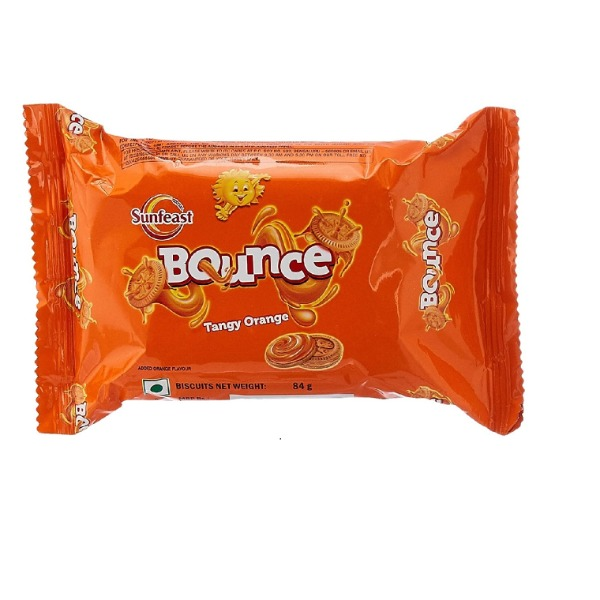 Sunfeast Bounce Orange  Cream , 82 g
