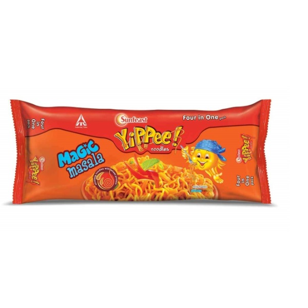 Sunfeast Yippee Noodles Magic Masala, Four in One Pack ( 4 in 1 Pack ), 280g