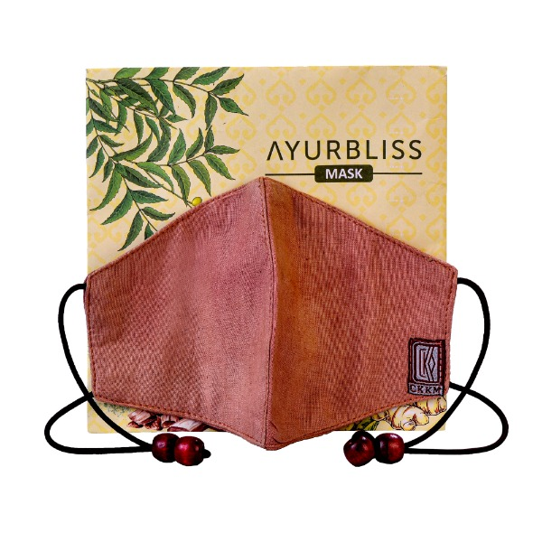 AYURBLISS Natural Dyed Cotton Mask (RED SANDAL)