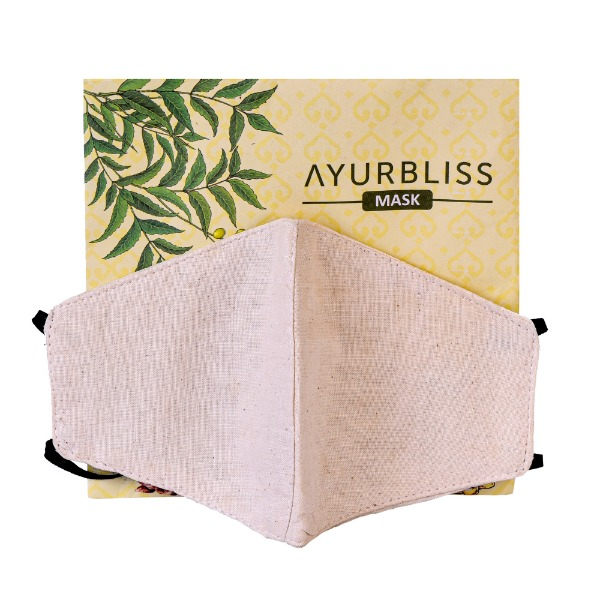 AYURBLISS Natural Dyed Cotton Mask (VETIVER)