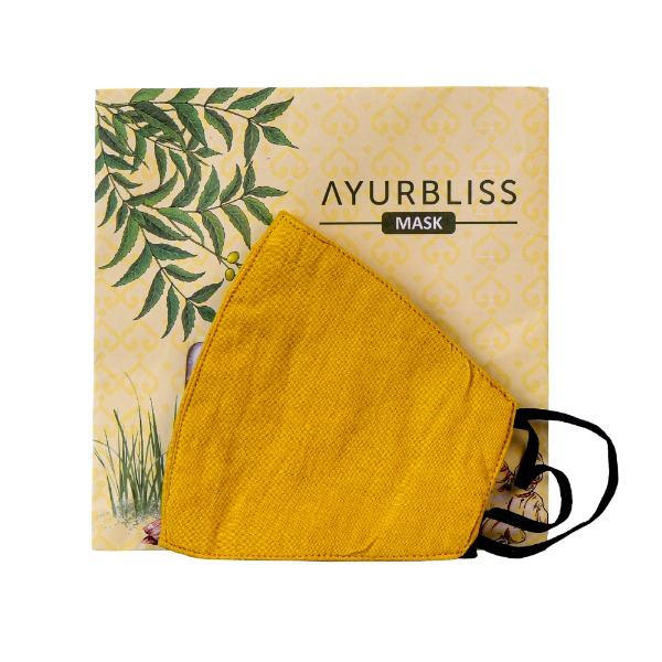 AYURBLISS Natural Dyed Cotton Mask (TURMERIC and RED SANDAL)