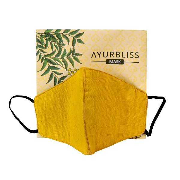 AYURBLISS Natural Dyed Cotton Mask (TURMERIC and VETIVER)