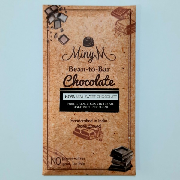 MinyM  Bean-to-Bar 60% Semi Sweet Chocolate