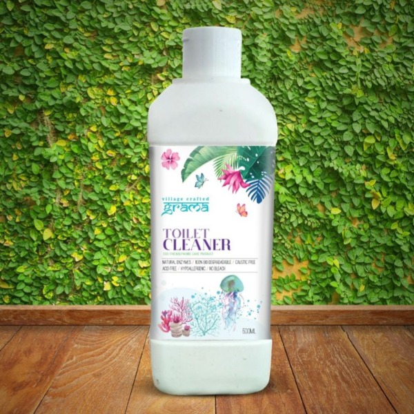 GRAMA TOILET CLEANER - No Chemicals | Bio degradable | Non Toxic | Earth Friendly