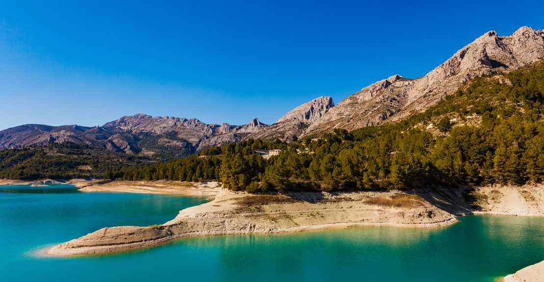 Guadalest Reservoir in Costa Blanca