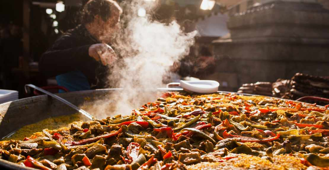 Paella eten in Costa Blanca