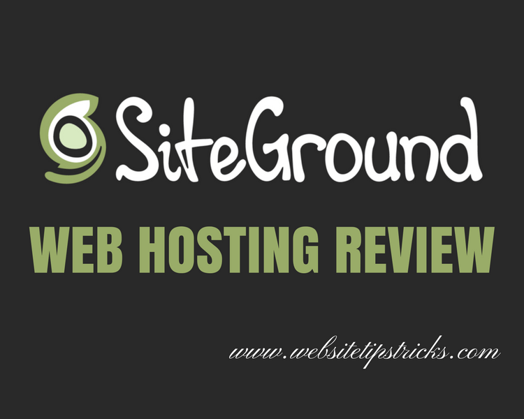 Ordering  Hosting Siteground