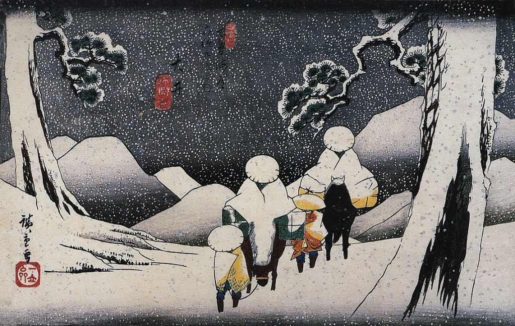 1136px-Hiroshige,_Travellers_on_horseback_in_the_snow