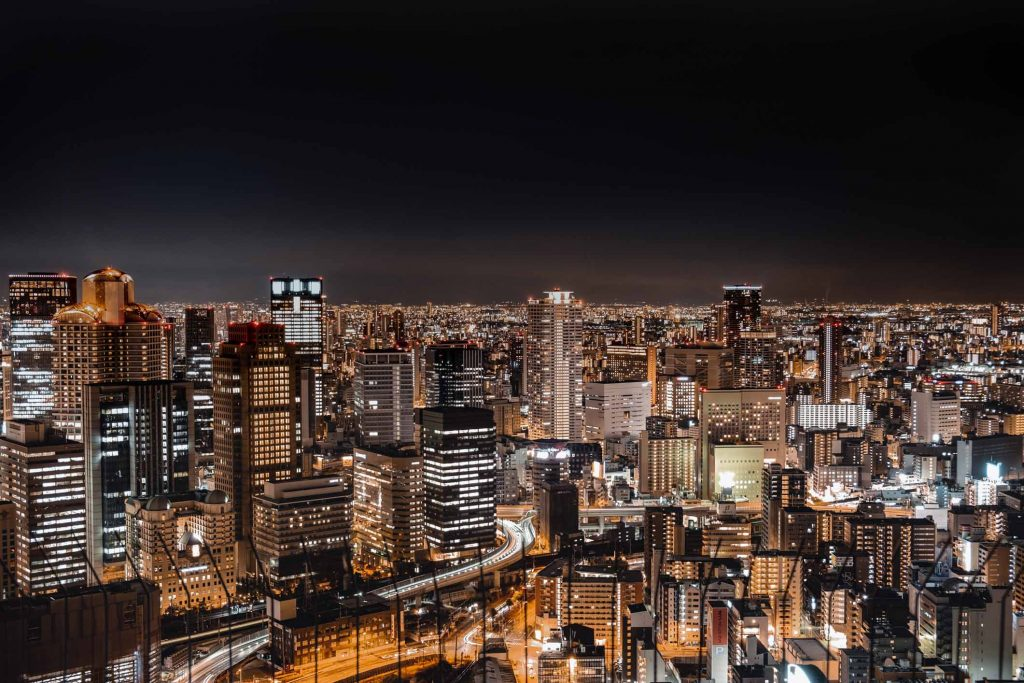 Most Instagrammable Places in Osaka Umeda Sky Building View by night