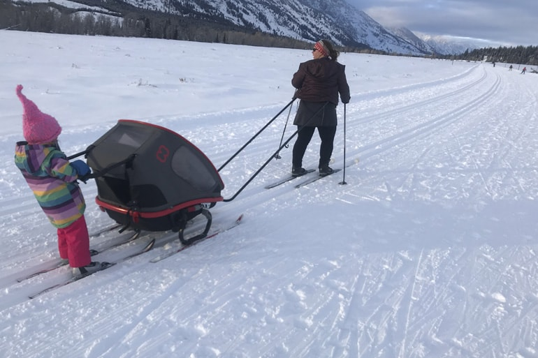 Hamax Outback review skiing