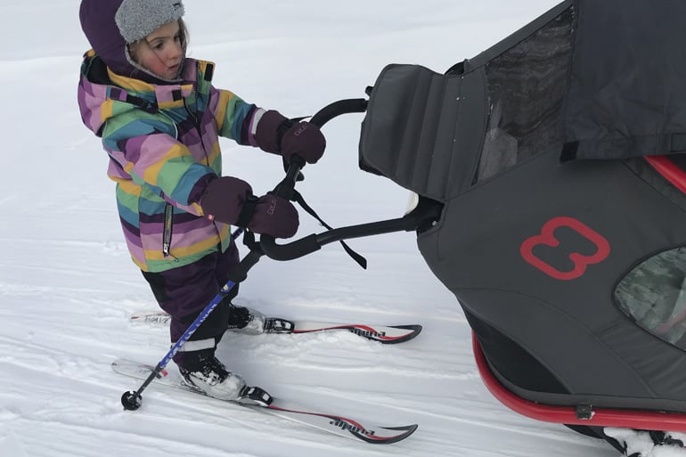 Hamax Outback review in winter