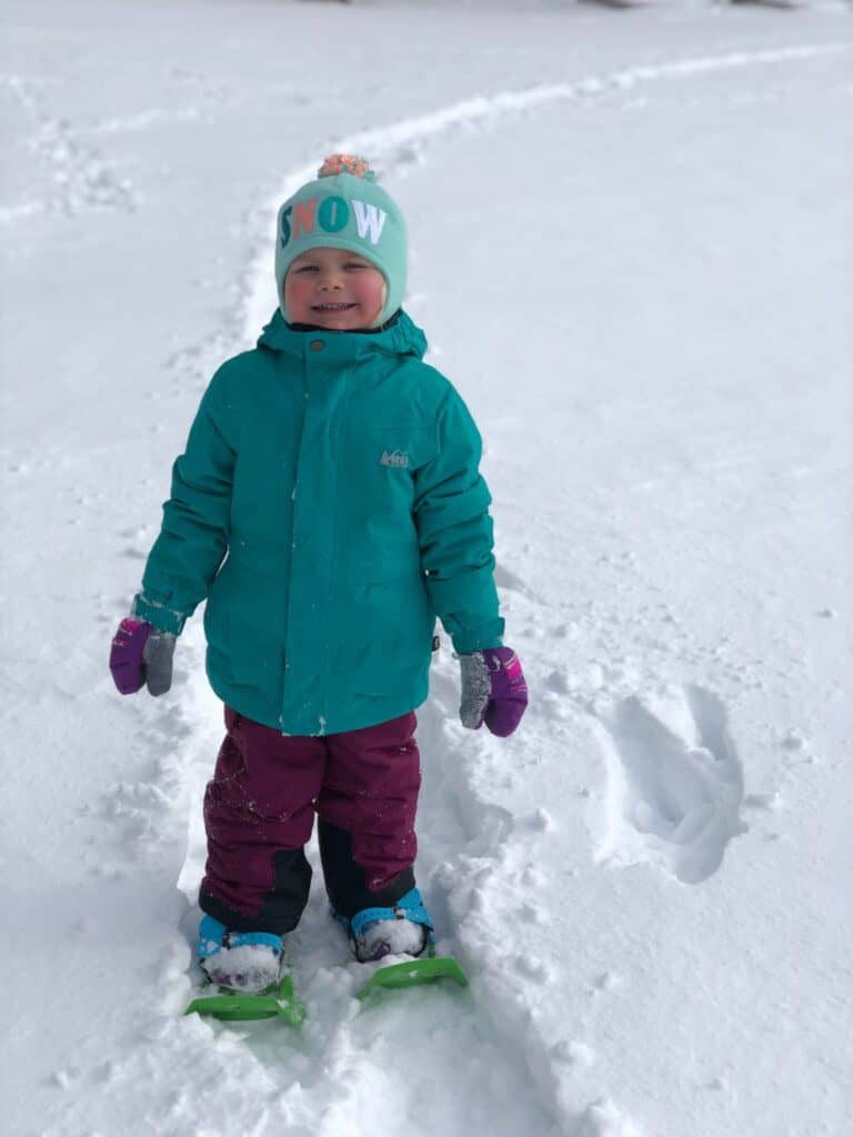 snowshoeing in Yellowstone in the winter
