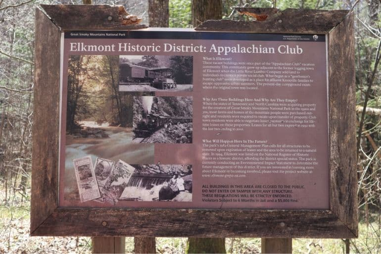 Elkmont History Sign