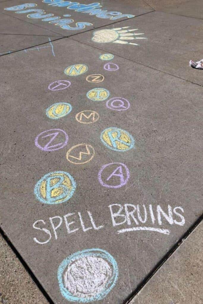 Easy Sidewalk Chalk Obstacle Courses