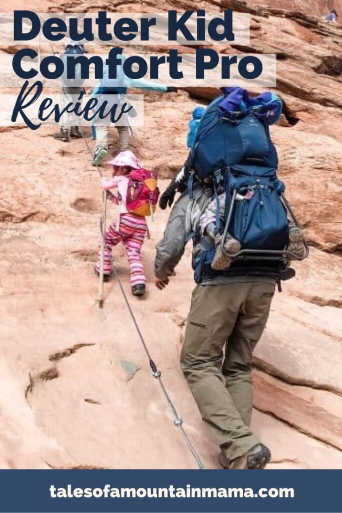 The Deuter Comfort Pro is our go-to all-season kid carrier pack for hiking, skiing, and backpacking. We find it to be the safest and most comfortable.