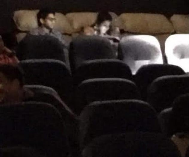 Samantha & Naga Chaitanya have been spotted visiting a multiplex to watch A. Aa Movie.2