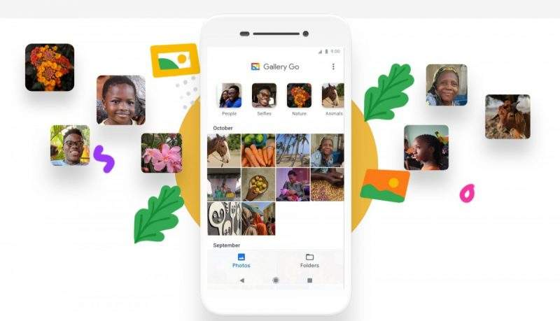 google gallery go interface phone white background