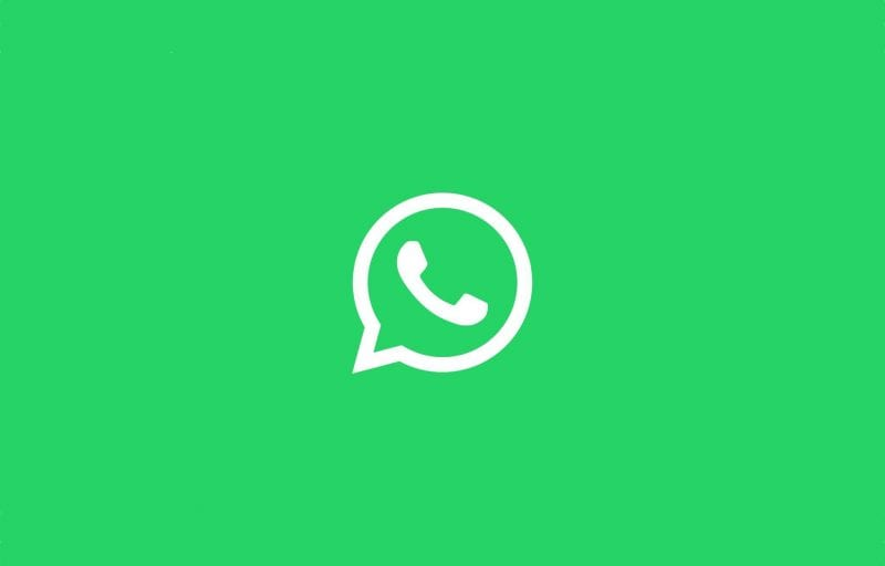WhatsApp white logo on green background