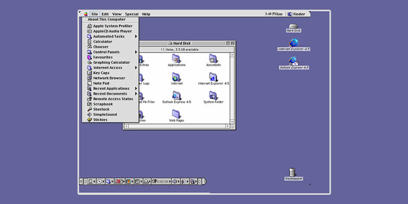 Access Classic Versions Of Windows and Mac OS In Your Browser