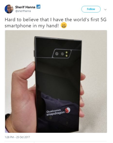 first 5G smartphone by Qualcomm