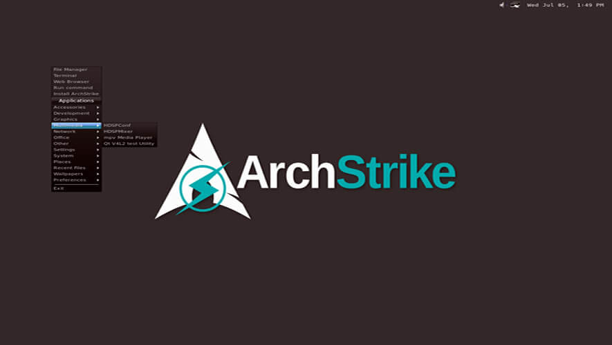 ArchStrike Linux - ethical hacking os