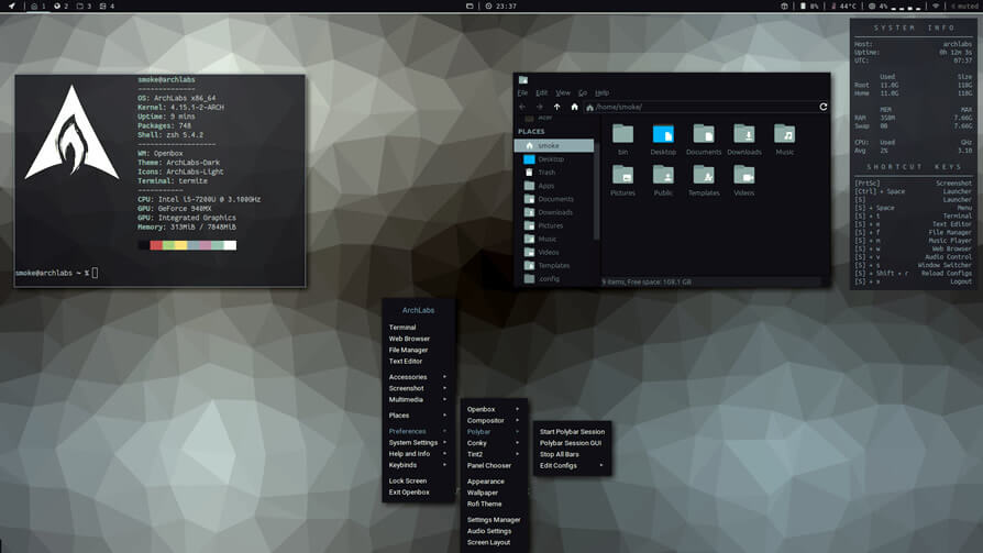 ArchLabs - Lightweight Linux Distributions