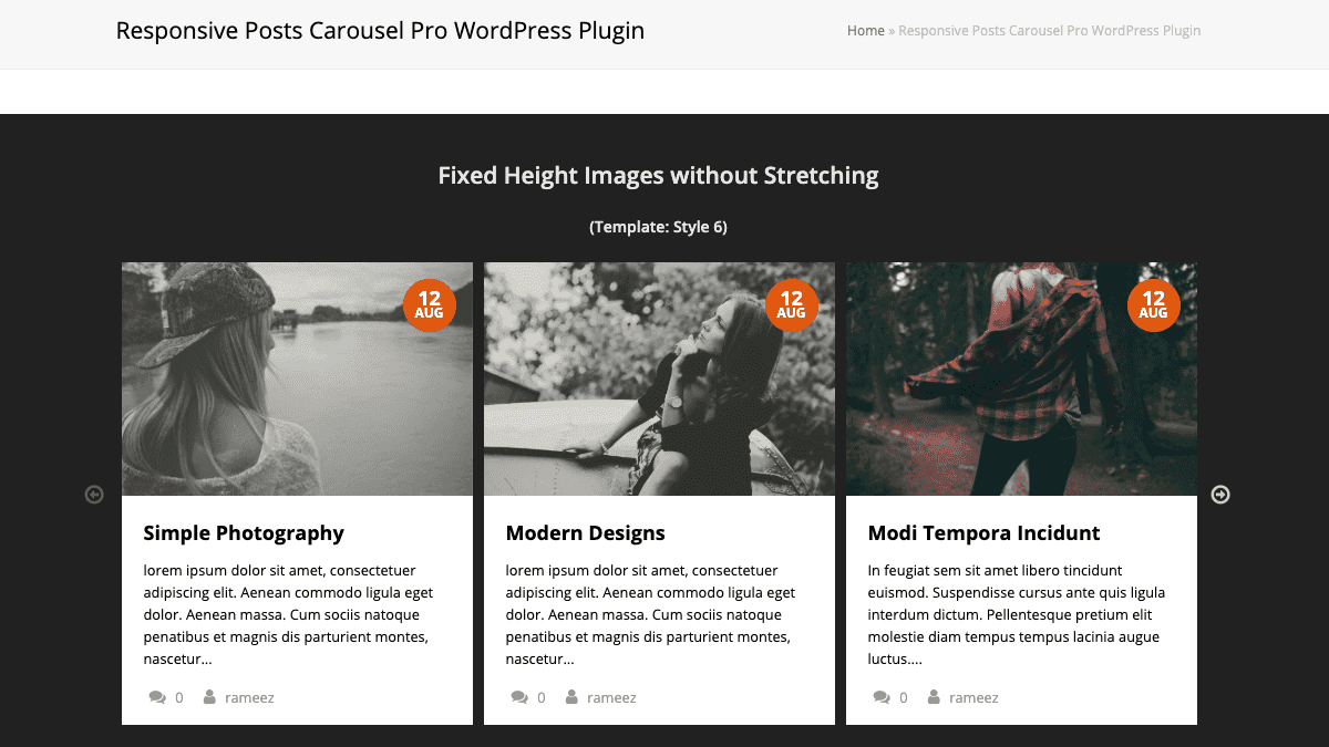 【WordPress 付費外掛免費下載】Responsive Posts Carousel WordPress Plugin