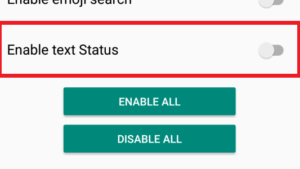 Enable WhatsApp Text Status Feature