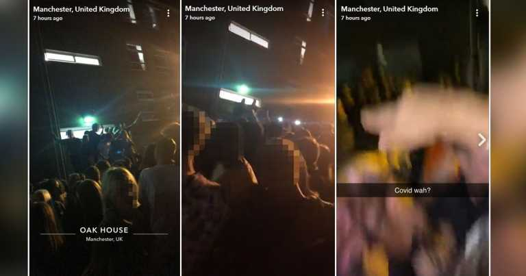 'Rule of six' ignored by students at illegal university rave