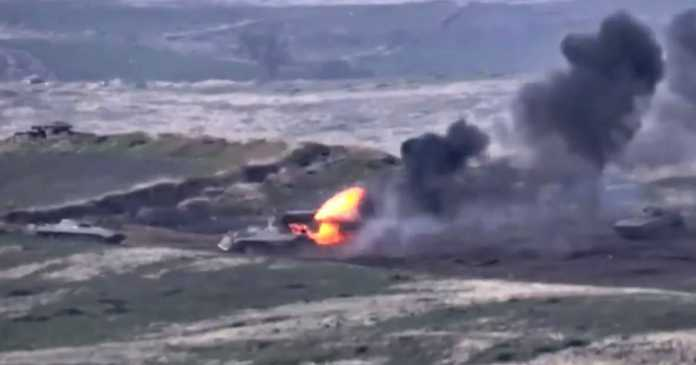 At least 16 killed and 100 hurt in heavy fighting between Armenia and Azerbaijan