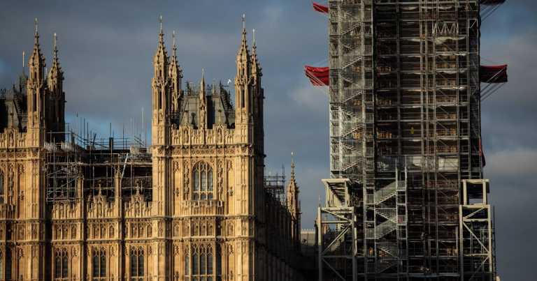 Big Ben tower roof to be revealed after three years