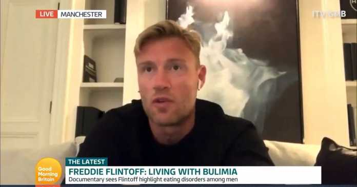 Cricketer Freddie Flintoff opens up about secret eating disorder
