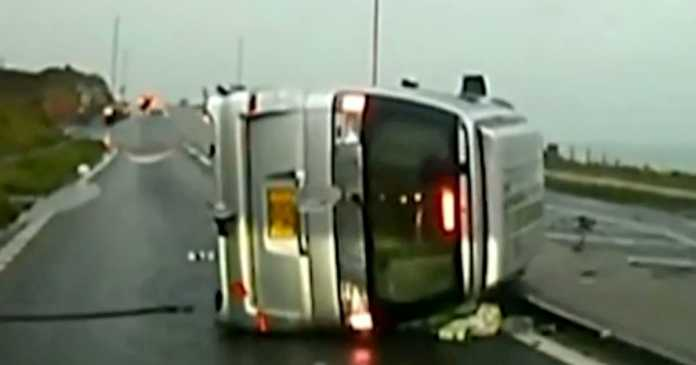Driver who lost arm after texting at wheel releases crash footage to warn others