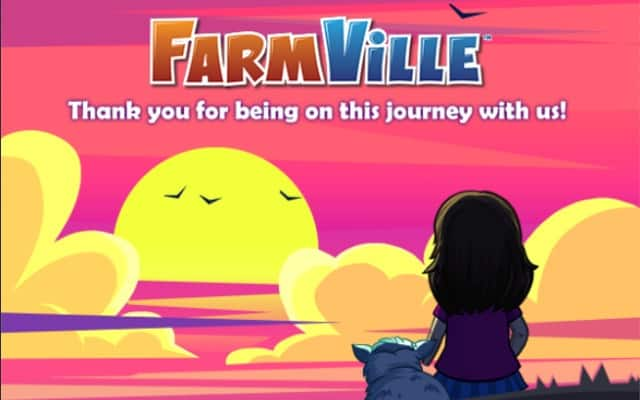 Farewell time for the once legendary game FarmVille