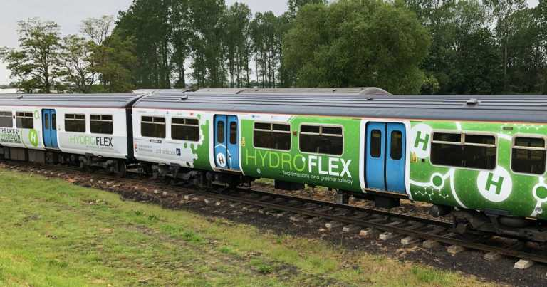 Hydrogen-powered train on track to help sustainable green transport drive