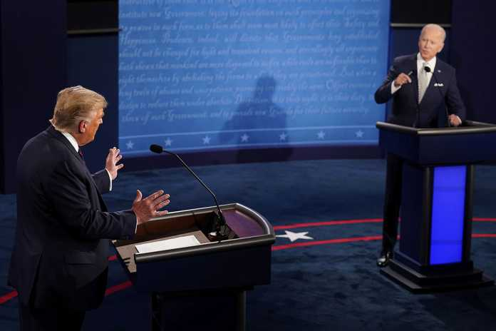 Key moments from Trump and Biden's first primetime showdown