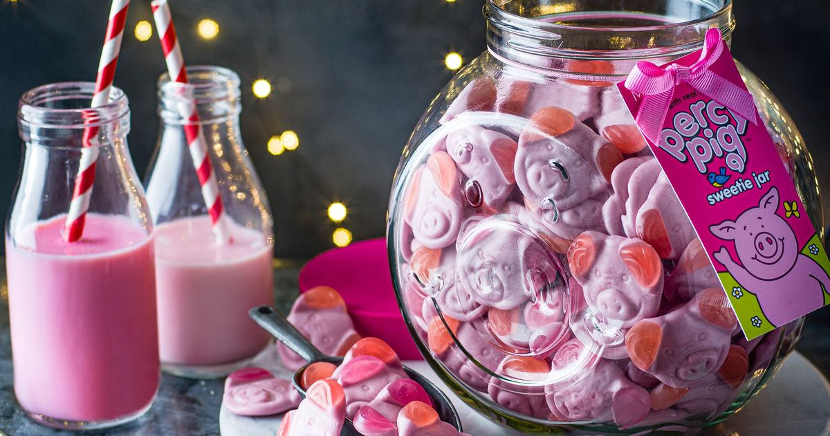 M&S selling a kilo of Percy Pig sweets in collectible glass jar