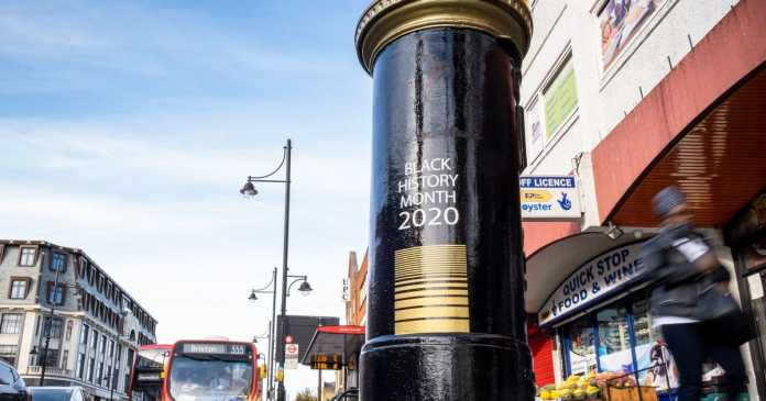 Postboxes painted to honour black Brits during Black History Month