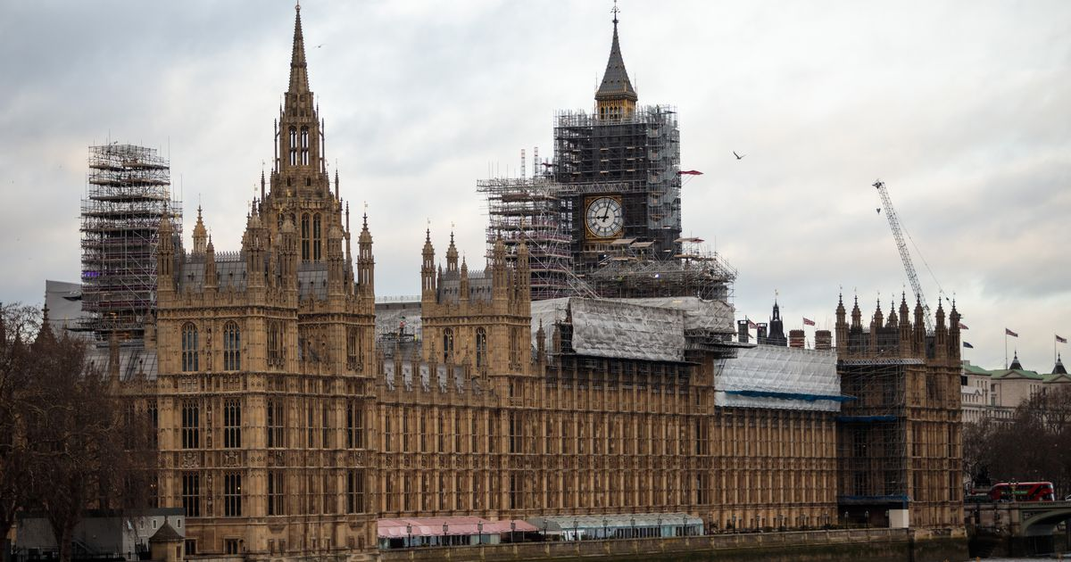 Scaffolding surrounding the Big Ben tower is about to be removed