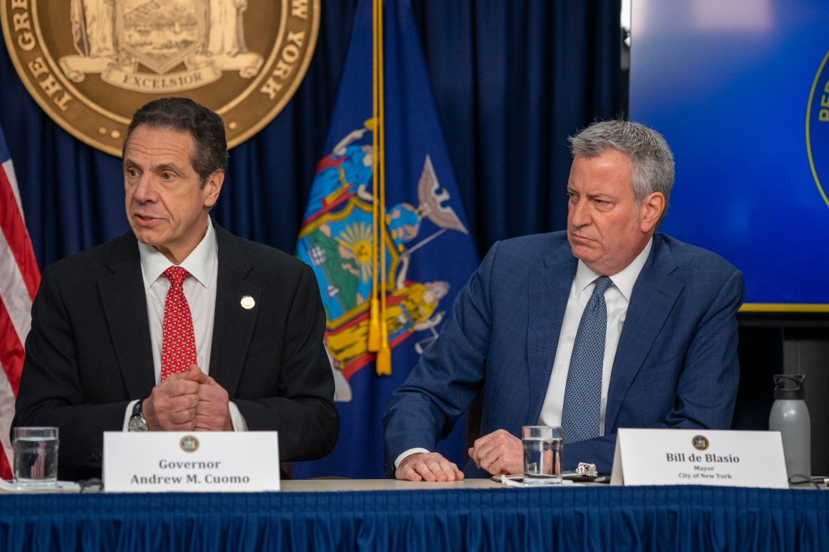 'It is not acceptable': Cuomo, de Blasio at odds as Covid surges in New York