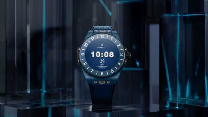 Smart watch design in Champions League theme