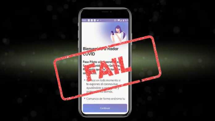 Failure in Spain of the Radar Covid app