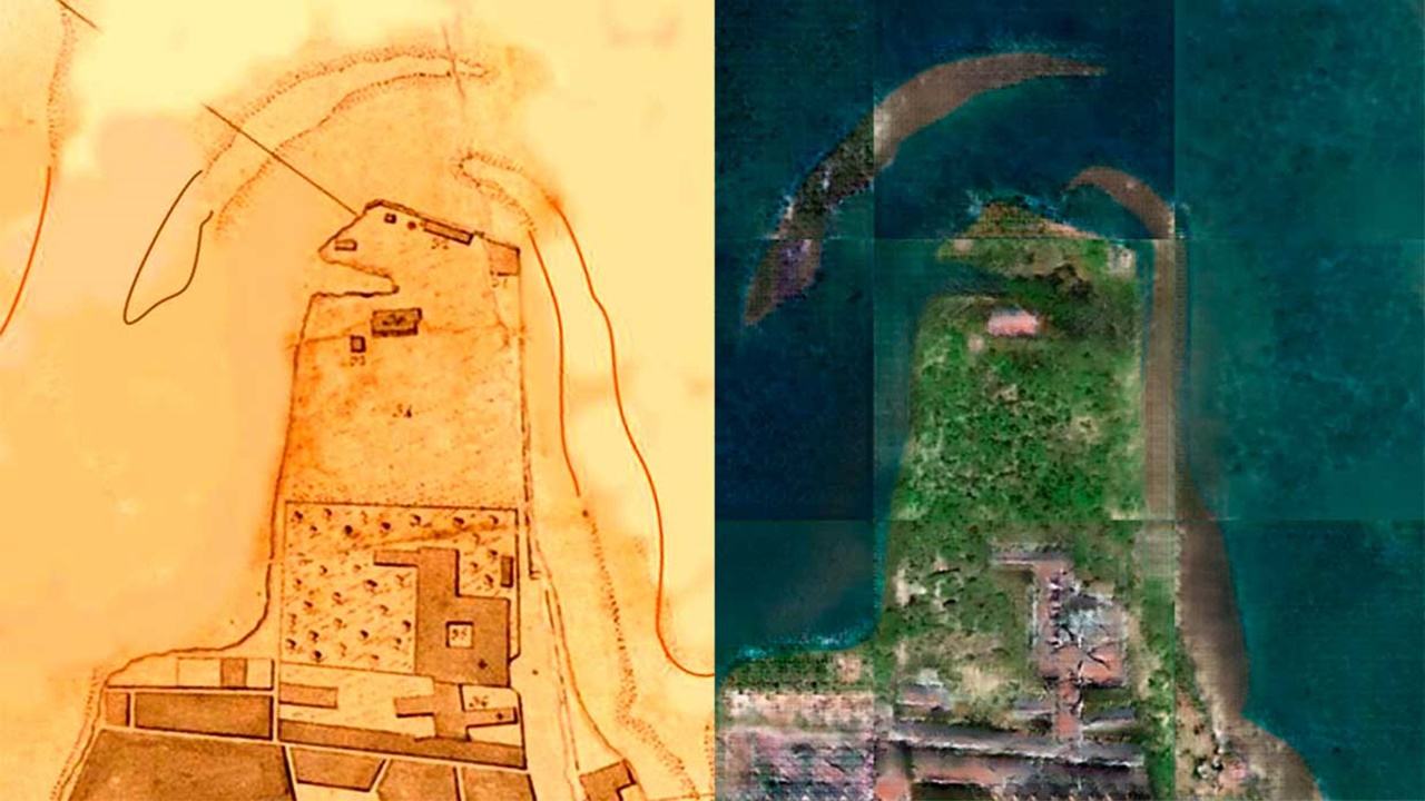 Old maps have been converted to satellite images!