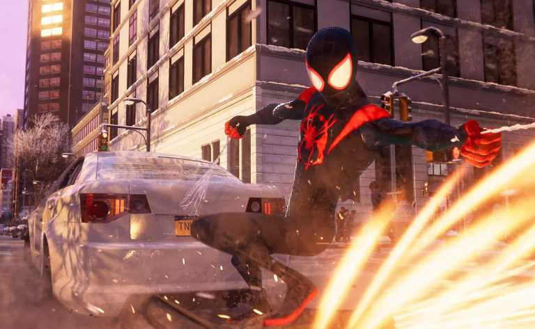 Spider-Man: Miles Morales features Spider-Verse costume