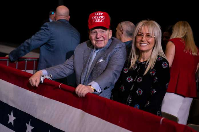 Adelsons pour $75M into last-ditch effort to save Trump
