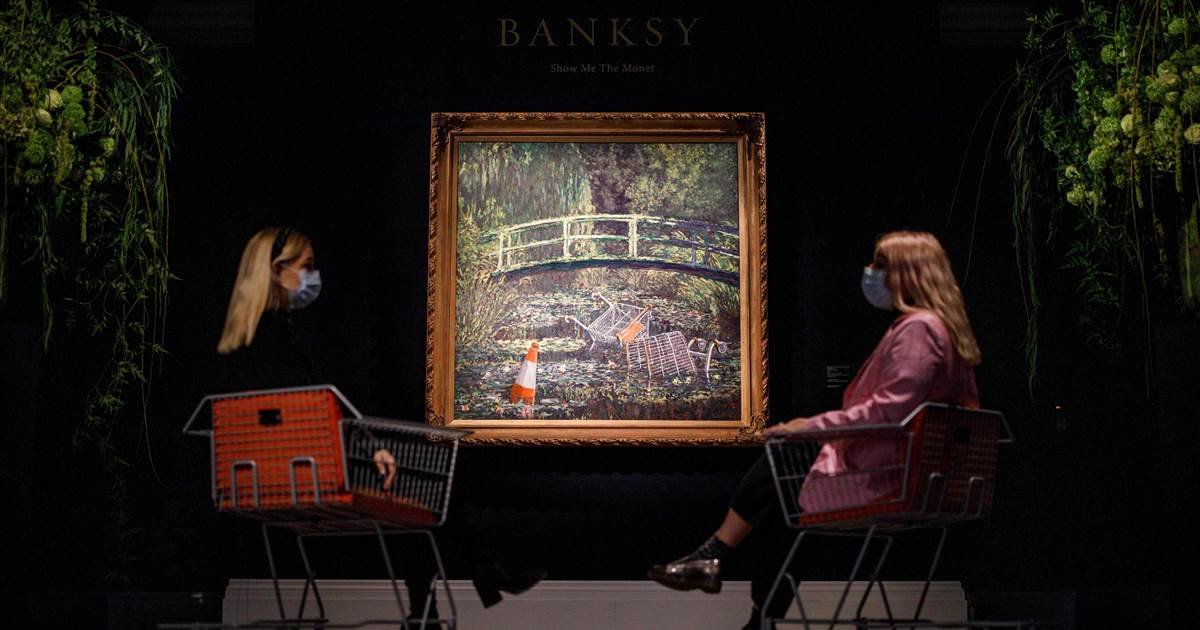 Banksy artwork 'Show Me the Monet' sells for almost $10 million at auction