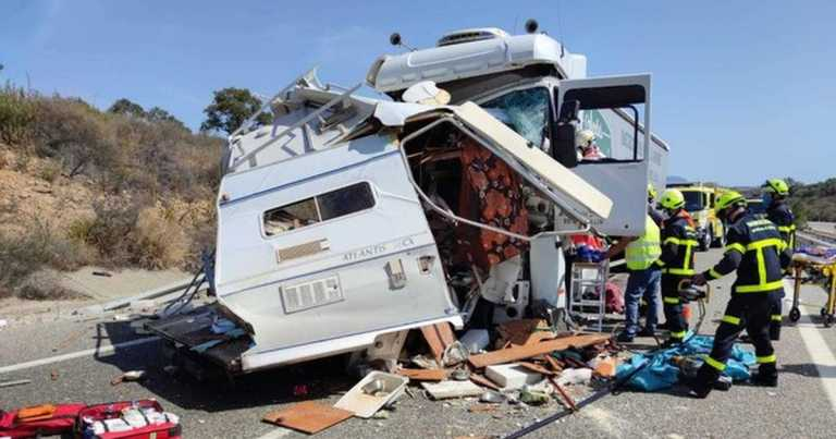 Brit 'kills' wife then puts body in camper-van and smashes in HGV in 'suicide'