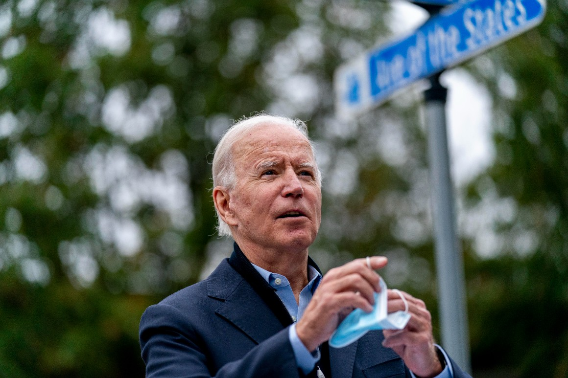 Caution and confidence keep Biden close to home in final days