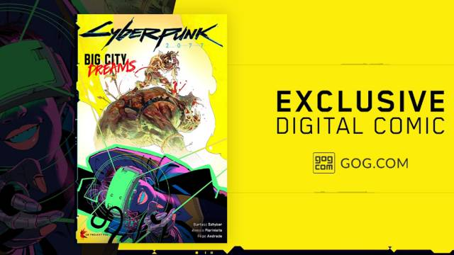Cyberpunk 2077 will contain comics if you buy it from GOG